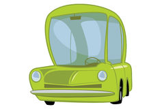Cartoon Car. With green and cute style Royalty Free Stock Photos