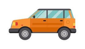 Cartoon Car Isolated on White Background flat vector illustration. Royalty Free Stock Image