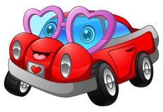 Cartoon car in love Royalty Free Stock Image