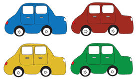 Cartoon car. Is made ​​from the program Royalty Free Stock Photography