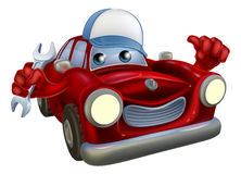 Cartoon car mechanic character Royalty Free Stock Image