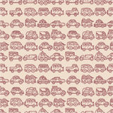 Cartoon car seamless pattern Royalty Free Stock Images