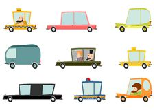 Cartoon car set Royalty Free Stock Photos
