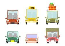 Cartoon car set Royalty Free Stock Images