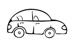 Cartoon car sketch, vector illustration Stock Images