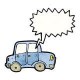 cartoon car with speech bubble Royalty Free Stock Photography