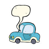 Cartoon car with speech bubble Stock Images