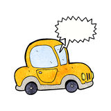 Cartoon car with speech bubble Stock Photography