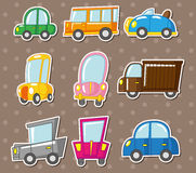 Cartoon car stickers Stock Image