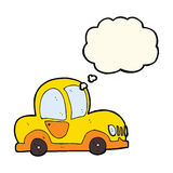 cartoon car with thought bubble Royalty Free Stock Image