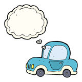 Cartoon car with thought bubble Stock Photography