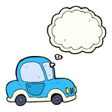 Cartoon car with thought bubble Stock Photo