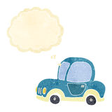 Cartoon car with thought bubble Royalty Free Stock Photo