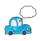 Cartoon car with thought bubble Stock Photos