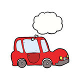 Cartoon car with thought bubble Stock Image