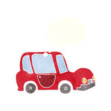 Cartoon car with thought bubble Royalty Free Stock Photos