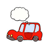 Cartoon car with thought bubble Stock Images