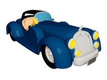 Cartoon Car Vintage Royalty Free Stock Photography