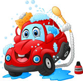 Cartoon car wash character Stock Image