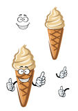 Cartoon caramel ice cream dessert Royalty Free Stock Photos