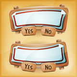 Cartoon Cardboard Agreement Panel For Ui Game Stock Images