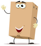 Cartoon Cardboard Delivery Character Stock Photo