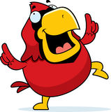 Cartoon Cardinal Dancing Stock Photography