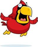Cartoon Cardinal Flying Royalty Free Stock Photography