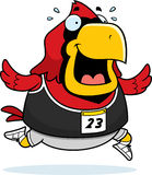 Cartoon Cardinal Running Race Royalty Free Stock Photography