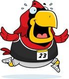 Cartoon Cardinal Running Race Royalty Free Stock Photography