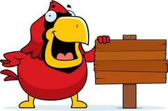 Cartoon Cardinal Sign Royalty Free Stock Images