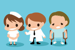 Cartoon Career about Hospital Royalty Free Stock Photos