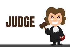 Cartoon career.Judges or lawyers in uniforms With judicial decisions.  royalty free illustration