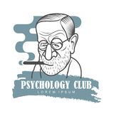 Cartoon caricature portrait of Sigmund Freud Stock Photography