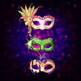 Cartoon Carnival Masks Collection Royalty Free Stock Photo