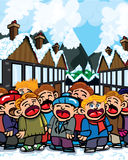 Cartoon carole singers Stock Photo