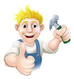 Cartoon carpenter or construction guy Stock Images