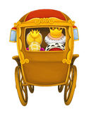 Cartoon carriage - transportation - isolated Stock Photography