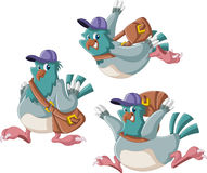 Cartoon carrier pigeon vector illustration