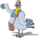 Cartoon carrier pigeon Stock Image