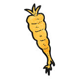 Cartoon carrot Stock Photography