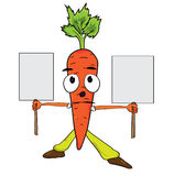 Cartoon Carrot character  illustration Stock Photos