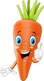 Cartoon carrot giving thumbs up Stock Image