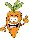 Cartoon carrot with an idea Stock Images
