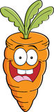 Cartoon carrot Stock Photography