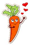 Cartoon carrot in love Royalty Free Stock Image