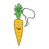 Cartoon carrot with speech bubble Stock Images
