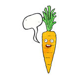 Cartoon carrot with speech bubble Royalty Free Stock Images
