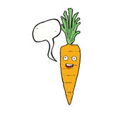 Cartoon carrot with speech bubble Stock Image