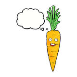 Cartoon carrot with thought bubble Royalty Free Stock Image